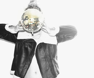 belly, blond, and disco ball image