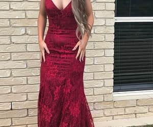 evening dress, party dress, and lace dress image