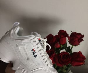 Fila, red, and roses image