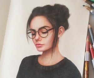 art, girl, and sketch image