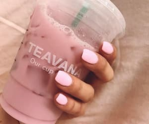 nails, strawberry, and pink image