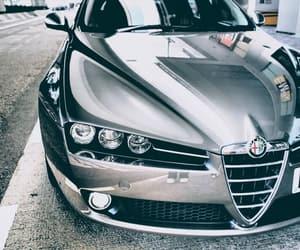 car, headlights, and alfaromeo image