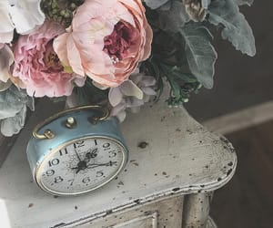 clock, photography, and shabby chic image