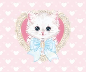 cat, pink, and wallpapers image