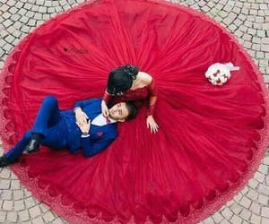 wedding, beautiful, and couple image