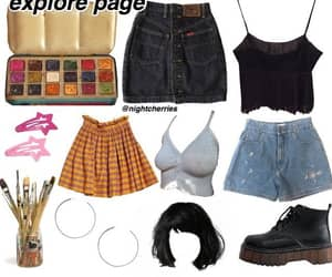 90's, blac, and outfit image