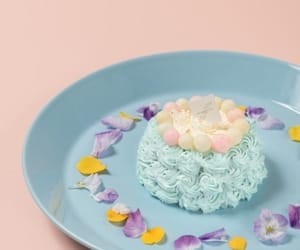 cream, sweets, and flower image