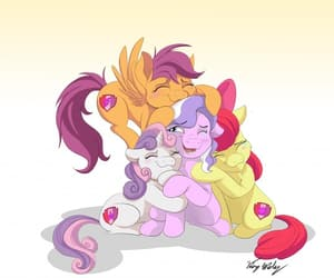 my little pony, scootaloo, and cmc image