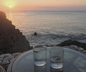 sunset and drinks image