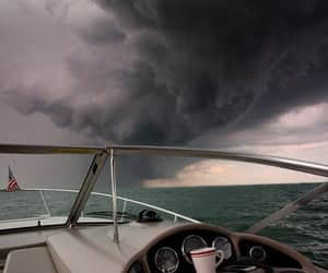 clouds, sea, and storm image