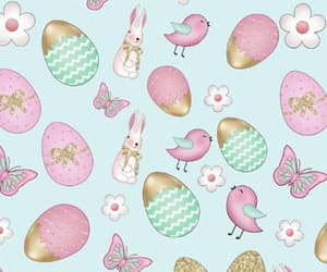 background, bunnies, and pattern image