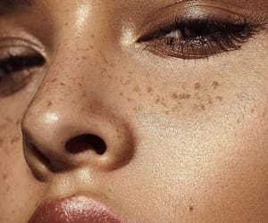 girl, freckles, and makeup image