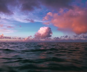 clouds, ocean, and sky image