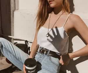 belt, blonde, and coffee image