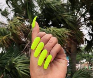 beauty, nails, and neon nails image