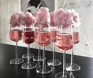 bebida, copa, and cotton candy image