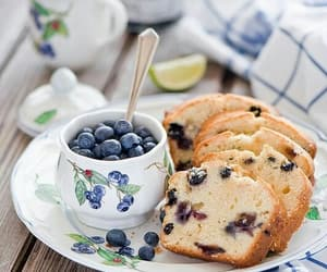 blueberry, food, and cake image