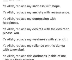 allah, muslim, and prayer image