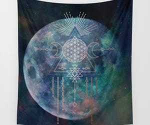 art, tapestry, and universe image