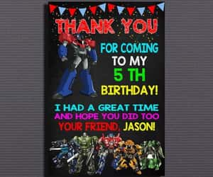 etsy, transformers, and kids birthday image