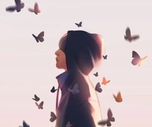 bts, v, and butterfly image