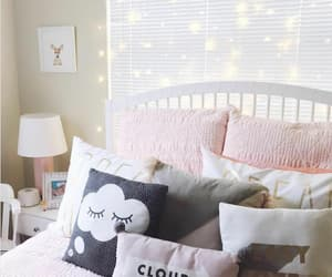 bed, bedroom, and cloud image