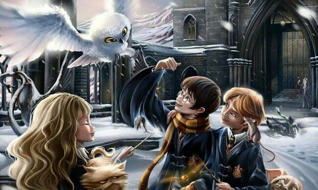 harrypotter, potter, and ron image