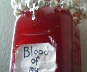 blood, bottle, and cross image