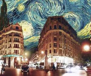 art, city, and van gogh image
