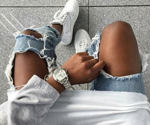 black girl, sneakers, and style image
