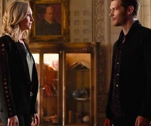 caroline forbes, klaus mikaelson, and The Originals image