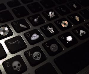black, keyboard, and grunge image