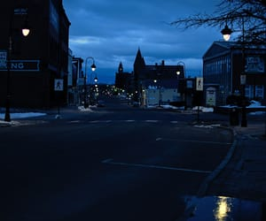 blue, town, and night image