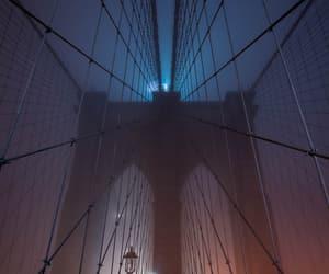 bridge, Brooklyn, and night image