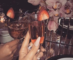 nails, drink, and fashion image