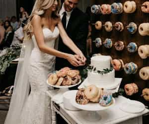 wedding, donuts, and style image