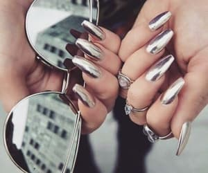 nails, fashion, and silver image