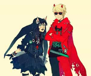Red & Black, dave strider, and jade harley image