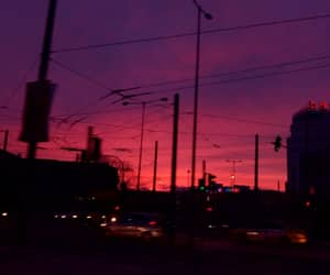 pink, pink sky, and purple image