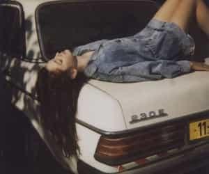 girl, car, and grunge image