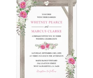 floral, pink, and wedding image