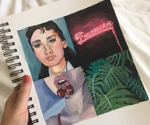 art, audrey, and cherries image