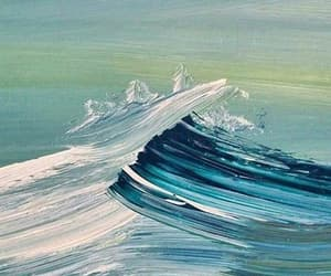 waves, art, and painting image