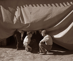 Beirut, boy, and tent image