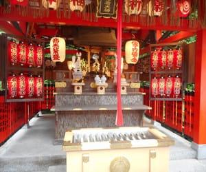 japán, red, and shrine image
