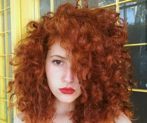 curl, curly hair, and orange image