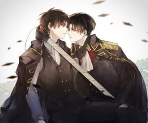 levi, snk, and aot image