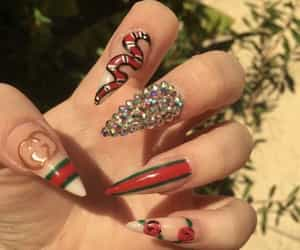gucci, nails, and boujee image
