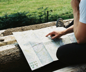 map, boy, and vintage image