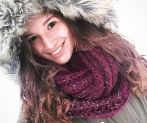 beuty, snow, and brunette image